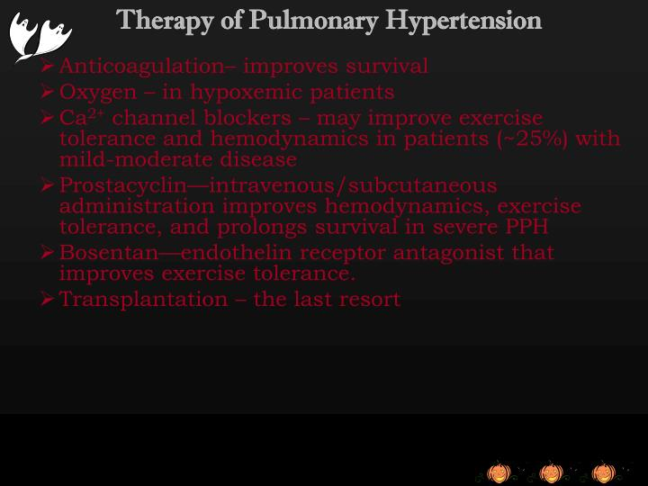 Therapy of Pulmonary Hypertension