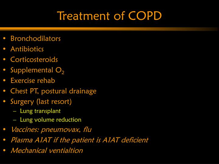 Treatment of COPD