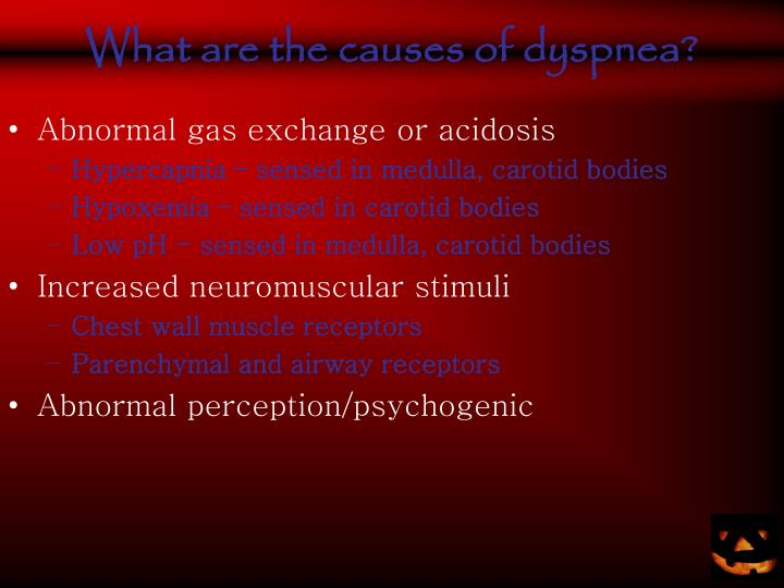 What are the causes of dyspnea?