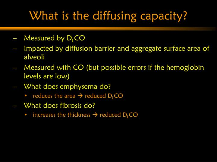 What is the diffusing capacity?