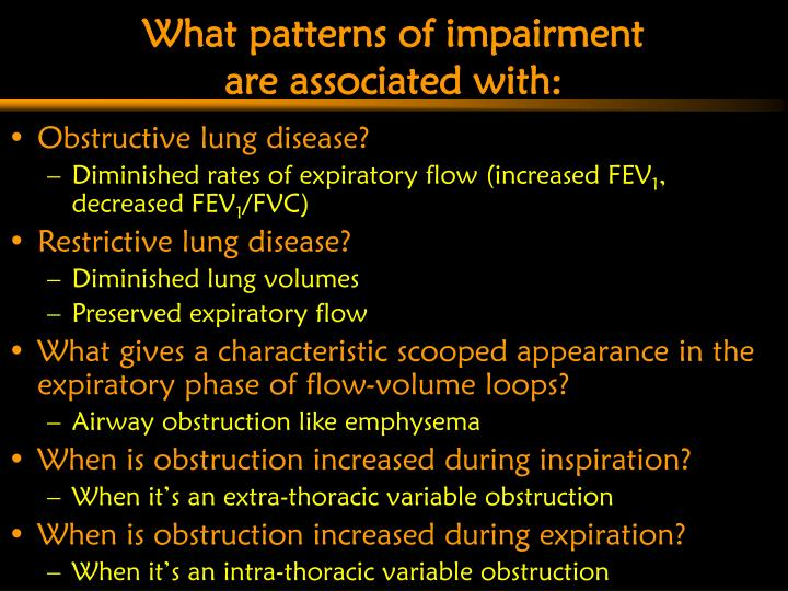 What patterns of impairment