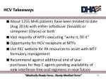 hcv takeaways