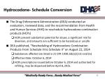 hydrocodone schedule conversion