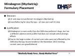 mirabegron myrbetriq formulary placement