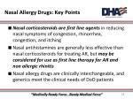 nasal allergy drugs key points