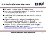 oral bisphosphonates key points