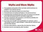 myths and more myths