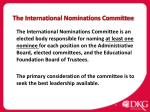 the international nominations committee