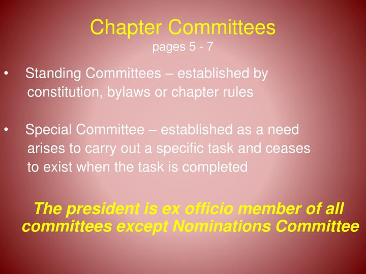 Chapter Committees