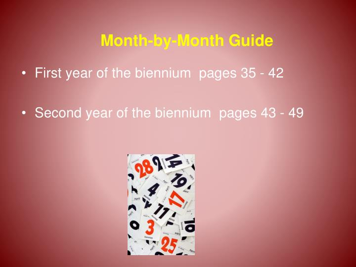 Month-by-Month Guide