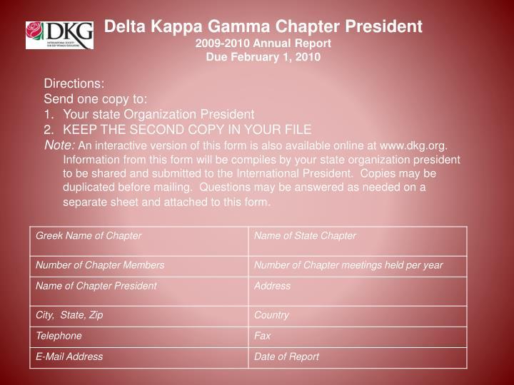 Delta Kappa Gamma Chapter President