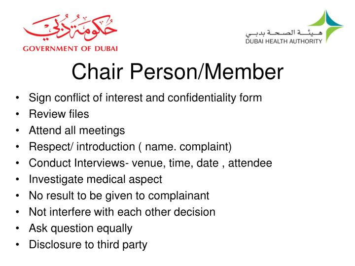 Chair Person/Member