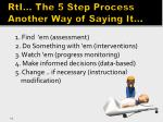 rti the 5 step process another way of saying it