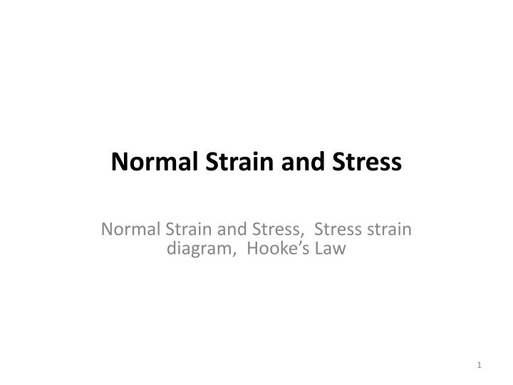 normal strain and stress n.