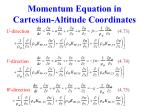 momentum equation in cartesian altitude coordinates
