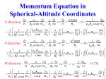 momentum equation in spherical altitude coordinates