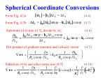 spherical coordinate conversions4