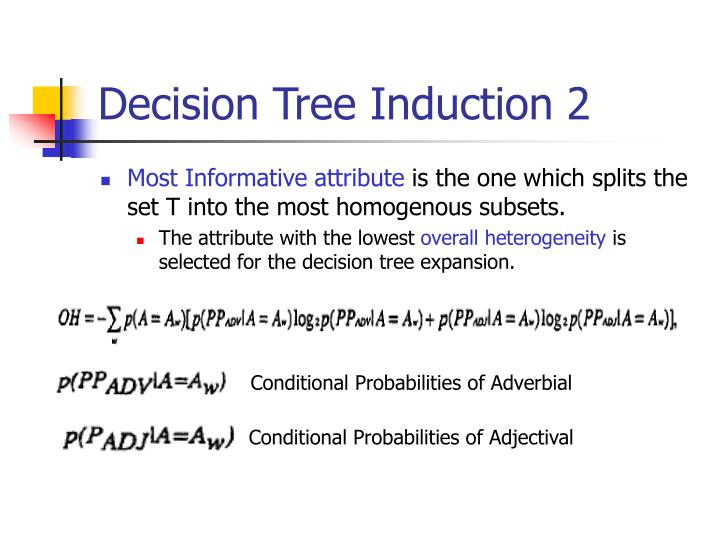 Decision Tree Induction 2