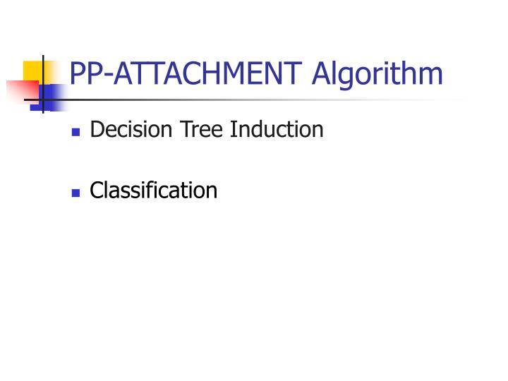PP-ATTACHMENT Algorithm