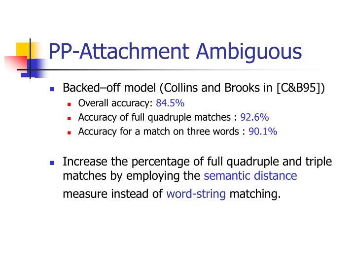 PP-Attachment Ambiguous