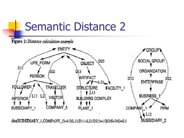 Semantic Distance 2
