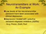 neurotransmitters at work an example