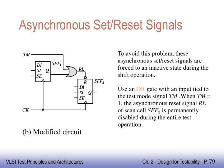 Asynchronous Set/Reset Signals