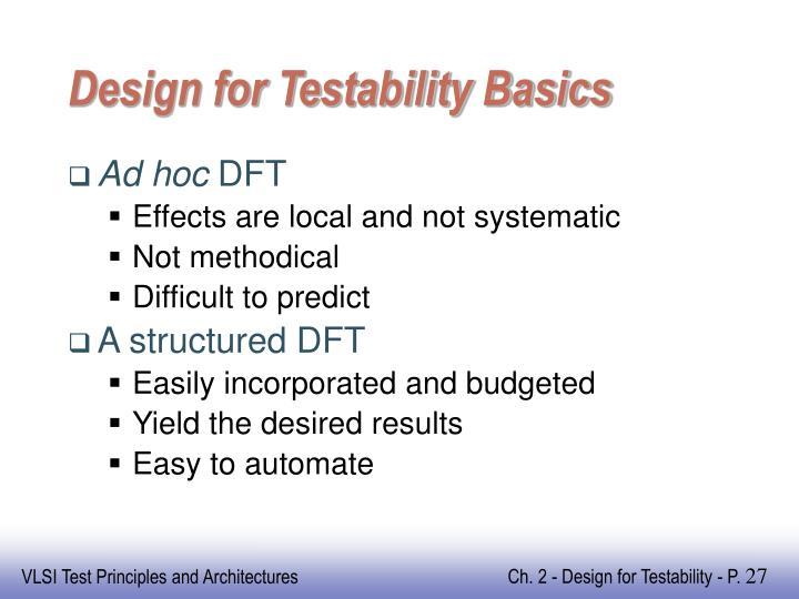 Design for Testability Basics