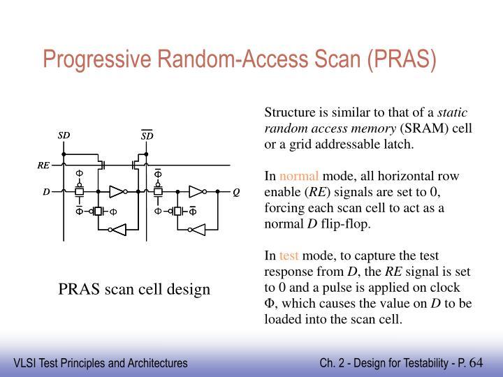 Progressive Random-Access Scan (PRAS)