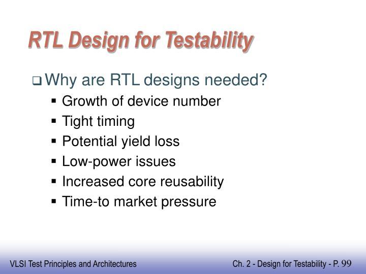 RTL Design for Testability