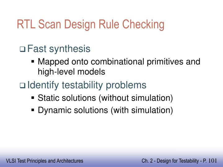 RTL Scan Design Rule Checking