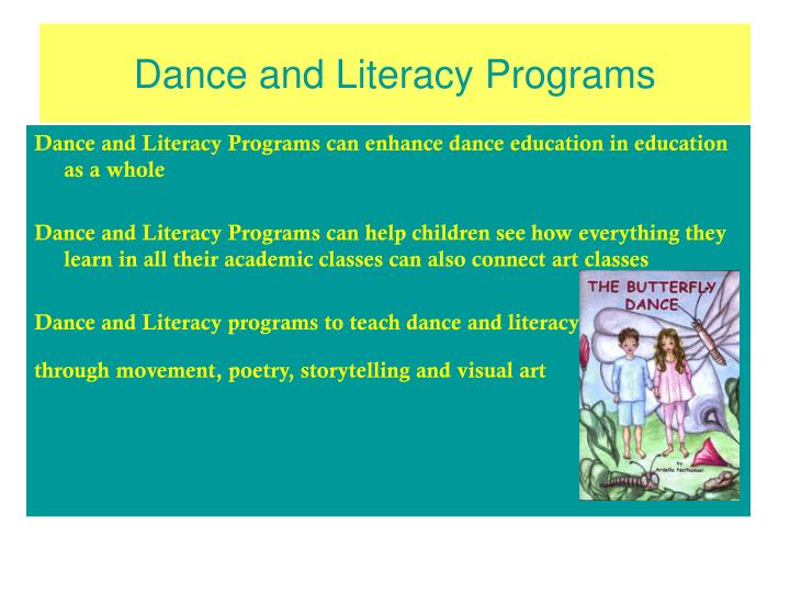 Dance and literacy programs
