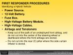 first responder procedures identifying a hybrid vehicle1