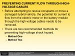 preventing current flow through high voltage cables