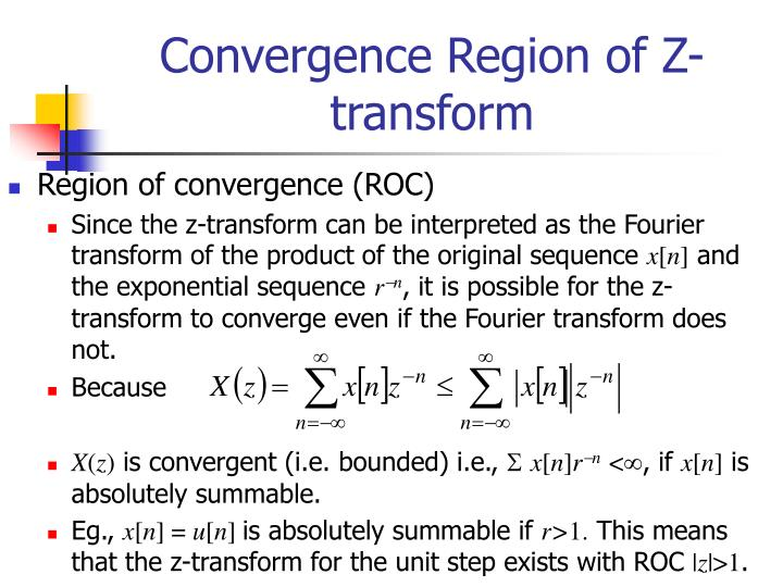 Convergence Region of Z-transform