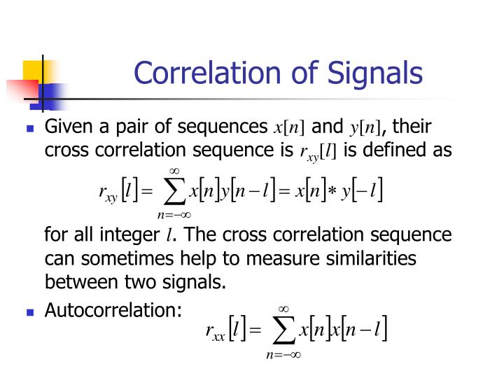 Correlation of signals