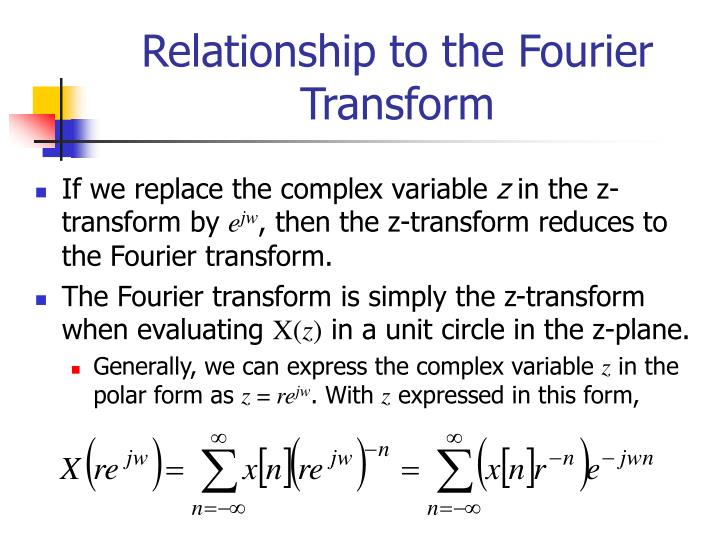 Relationship to the Fourier Transform