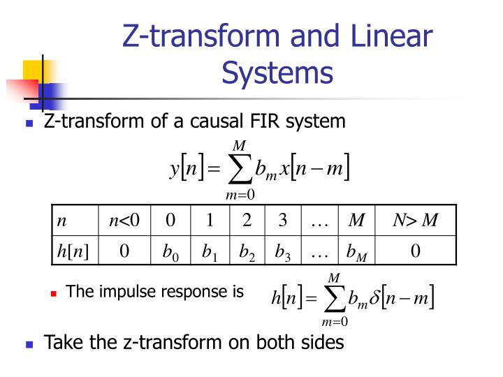 Z-transform and Linear Systems