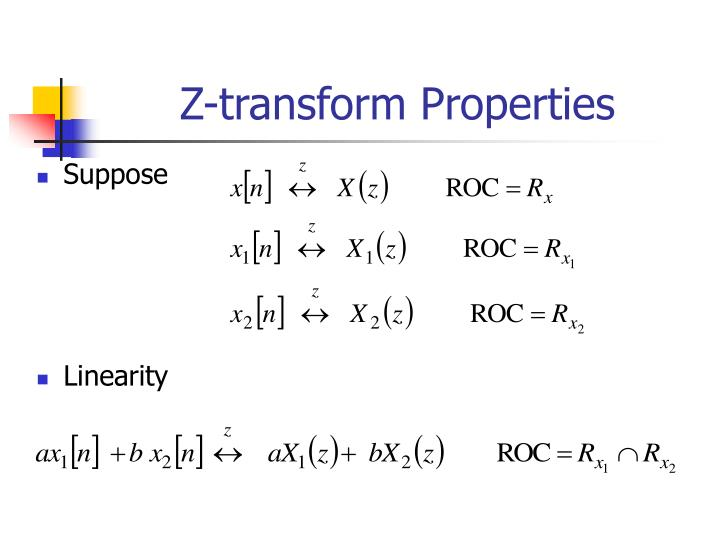 Z-transform Properties