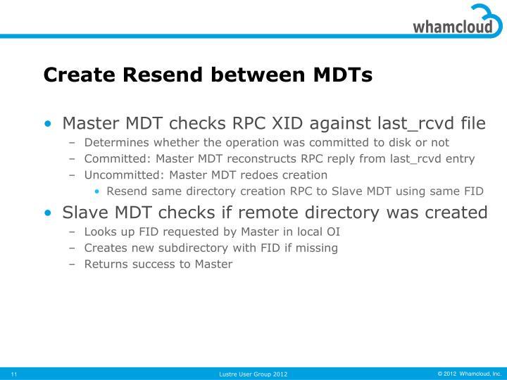 Create Resend between MDTs