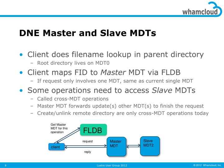 DNE Master and Slave MDTs