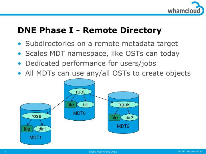 Dne phase i remote directory