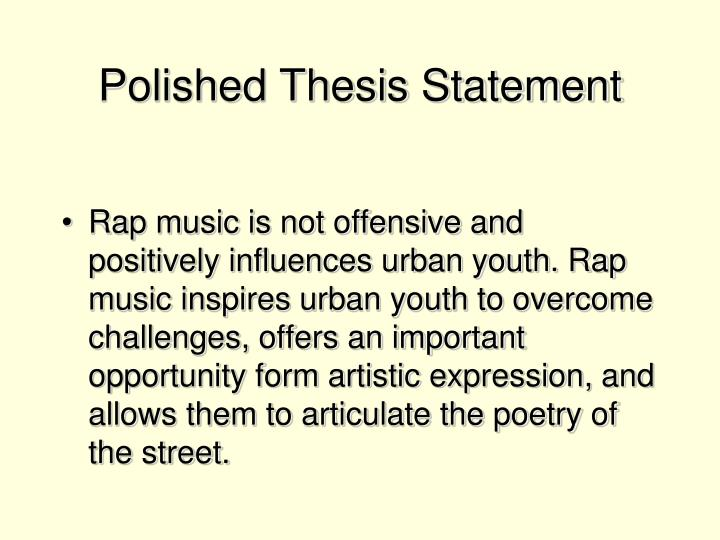 Polished Thesis Statement
