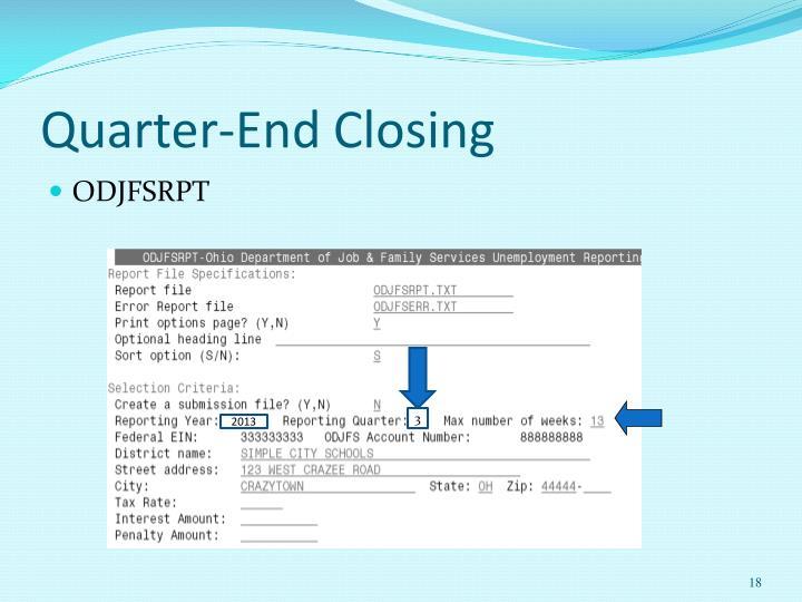 Quarter-End Closing