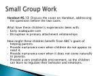 small group work9