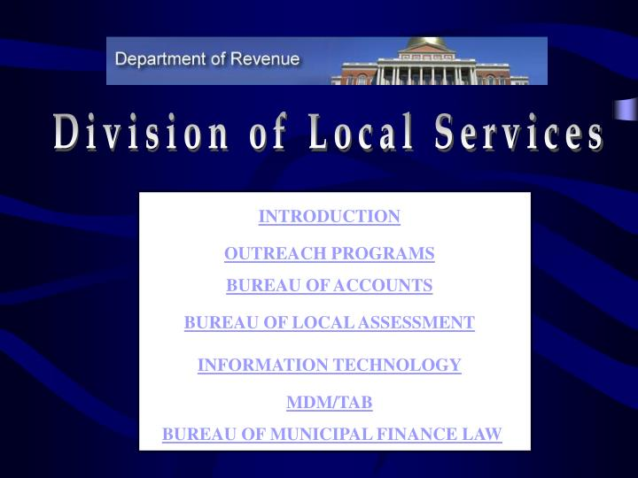 Division of Local Services