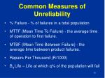 common measures of unreliability