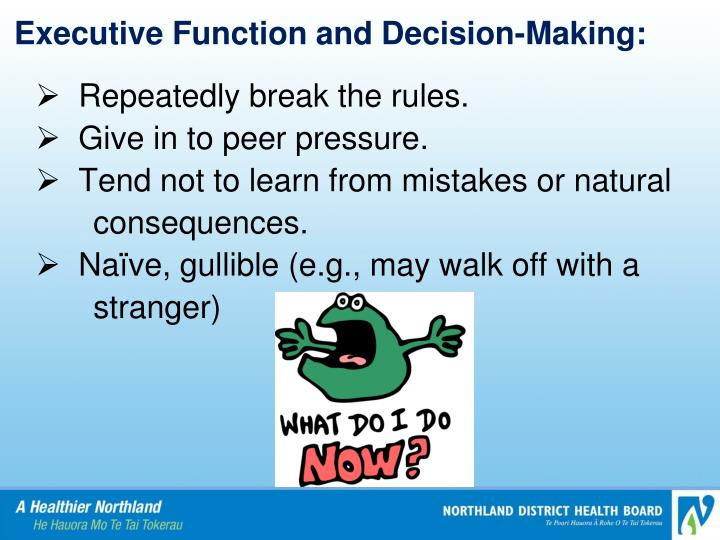 Executive Function and Decision-Making: