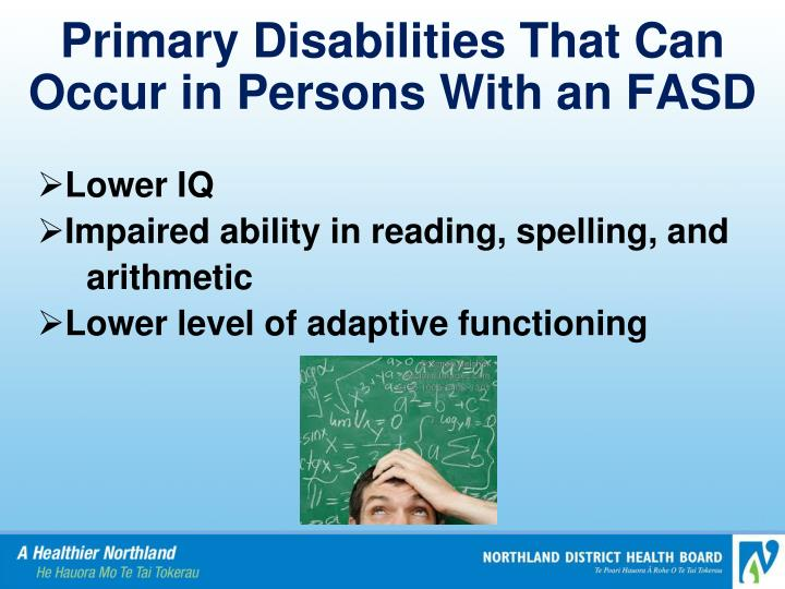 Primary Disabilities That Can