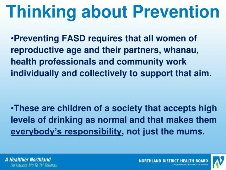 Thinking about Prevention